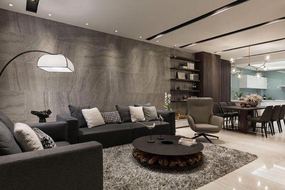 Salon contemporain- déco par les maisons d\'architecte du monde ...