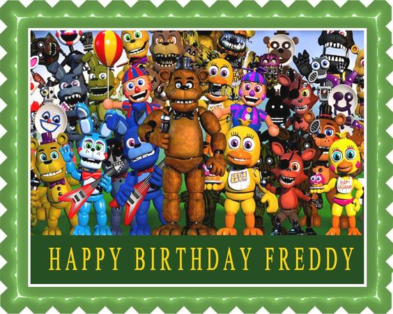 Fnaf World 2 Edible Cake Topper & Cupcake Toppers – Edible Prints On Cake…
