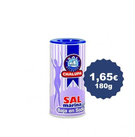Sal de mesa baja en sodio en saleros de 180 gr.