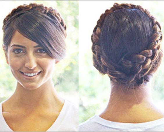 Step-By-Step Braid Crown Hairstyle