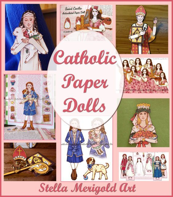 Check out these beautiful Catholic paper dolls! You will not believe how detailed they are, and they are really affordable, too! Available in book for or as a printable.