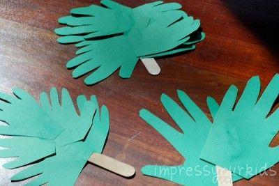 Handprint Palm Branches- Palm Sunday