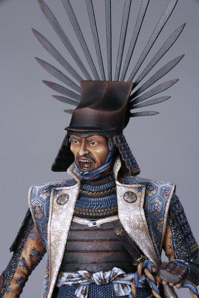 ХИДОЕШИ ТОЯТОМИ Сегун Японии, 1590 год.    Скульптор: Валерий Бызов  Художник: Ольга Скобцова