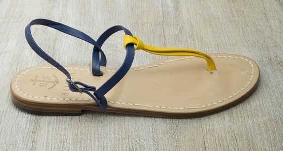Via Marina Grande - Lemon Yellow/Electric Blue - With our Via Marina Grande sandals in lemon yellow and electric blue, bring Capri's iconic colours of citruses and seashores with you wherever you go. | Sofia Capri