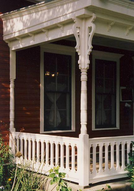 Close-up A - Bracket Photo, unique porch railing on ...