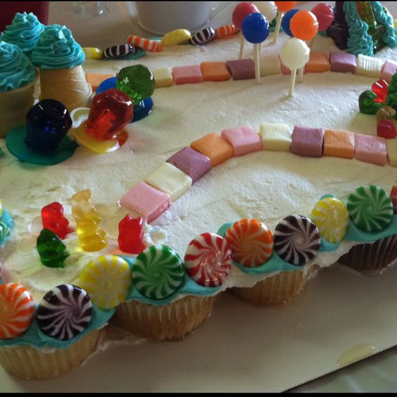 Candy land Cupcake Cake Custom Confections Based in San Jose