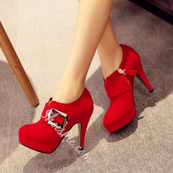 Shoespie Buckles Stiletto Heel Ankle Boots