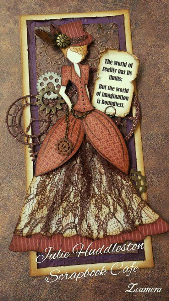 Steampunk Prima Julie Nutting Doll Tag ard homemade gears lady