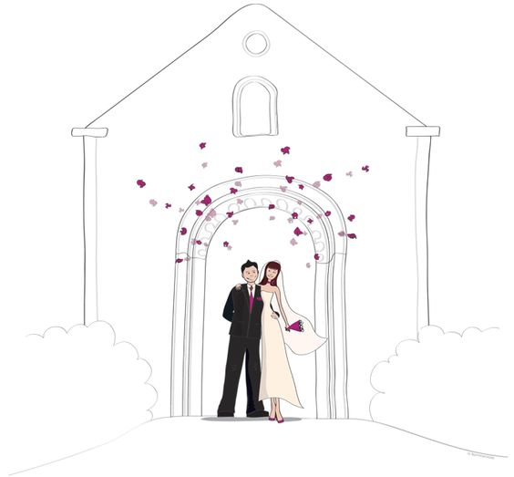 faire part de mariage illustration pour le livret de messe image mariage pinterest mariage. Black Bedroom Furniture Sets. Home Design Ideas