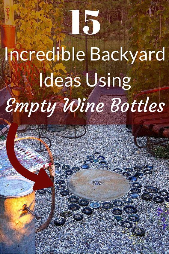 Empty Backyard Ideas :  empty wine bottles backyards wine bottles ideas backyard ideas wine