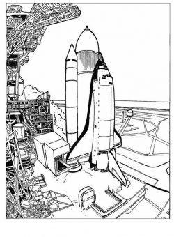 Okul Oncesi Uzay Roket Boyama Boyama Sayfalari Gezegenler Resim