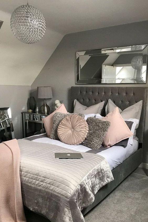 42 Totally Inspiring Bedroom Interior Design Ideas Grey Decor Makeover