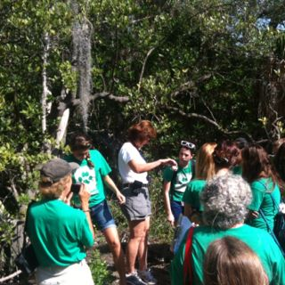"""Lido Key — the """"crew"""" and students take in subject matter for the start of our benchmark Cause Sponsorship program  
