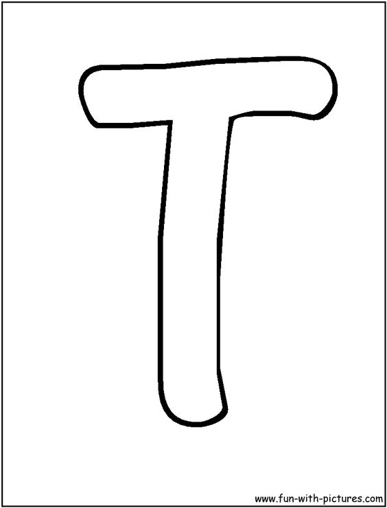t letters coloring pages to print - photo #25