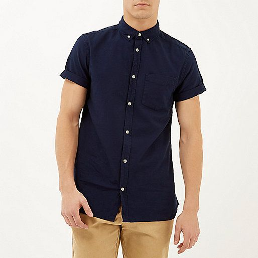 Mens Plain Short Sleeve Shirts