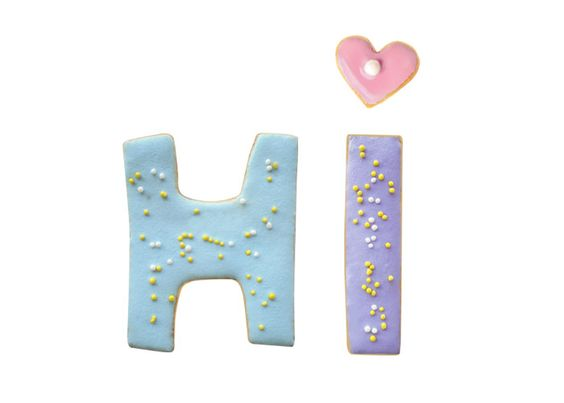What's a cuter way to say hello than with hand-painted cookies?