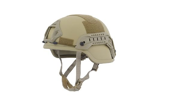 Lancer Tactical ACH MICH 2000 Helmet with Side Rail-TAN | Airsoft Megastore