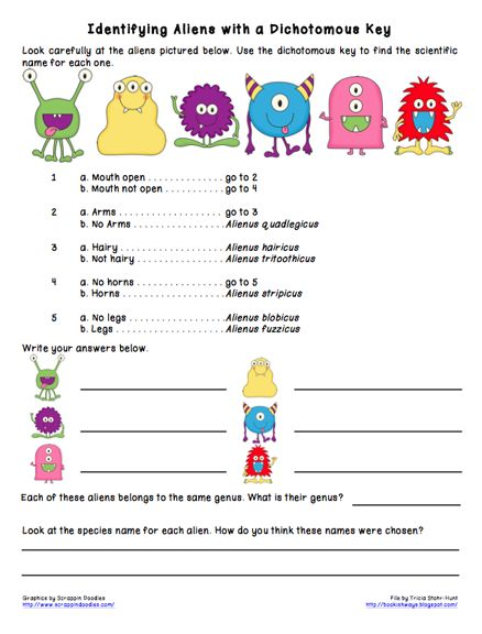 Monday Science Freebie Dichotomous Keys Dichotomous Key Science Worksheets 5th Grade Science