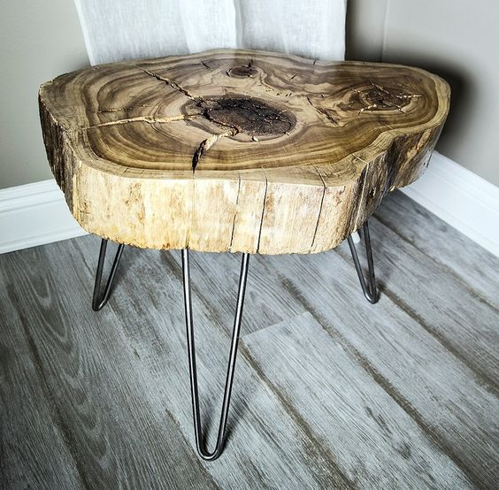 Coffee Table Made Out Of Tree: Making My Own Coffee Table Out Of A 50 Year Old Wood Slab