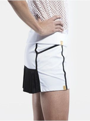 Pleated Back Stretch-Jersey Tennis Skirt