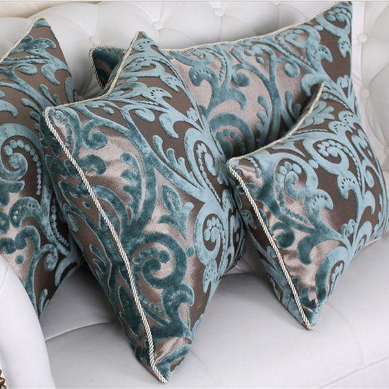 Fleurs rose vintage-long housses de coussin oreiller cas home decor ou intérieure