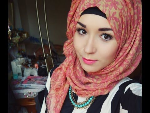 Hijab Tutorial l Everyday style (normal) & Twist back ...