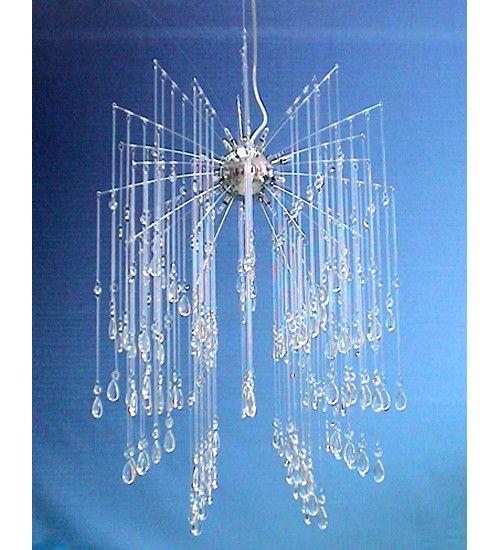 """Meyda 20""""W Euro Crystal Shower Pendant"""