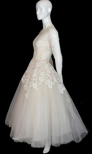 vintage wedding dress william cahill beverly hills 1950s