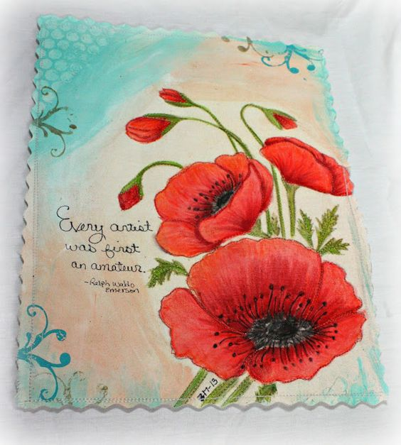 Embroidery art journal pages and the flowers on pinterest