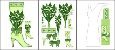 Birth Flower and Gem May Shaped Stand-up Boot Card