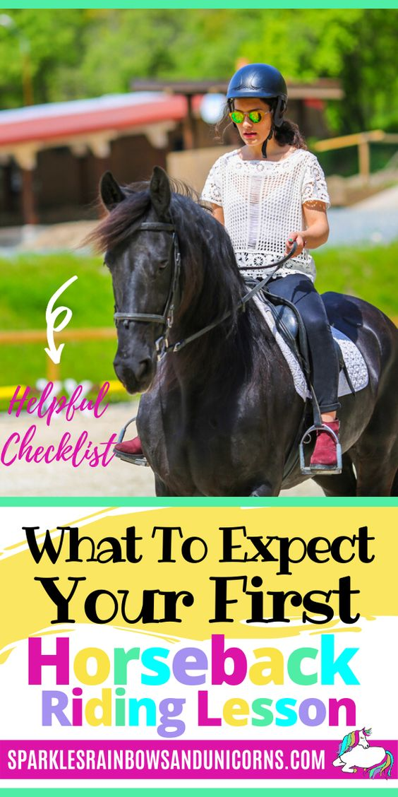 The time has finally come you are going to be going to your first   horseback riding lesson. I bet you are so excited and can hardly contain   your excitement.  But are you prepared? Do you have the right clothes and gear? Do you have an idea of what you will be practicing and working on in your riding lesson? Read this post to know what to expect, what to wear, and what to bring. Print out your free checklist so you don't forget anything and go have fun.