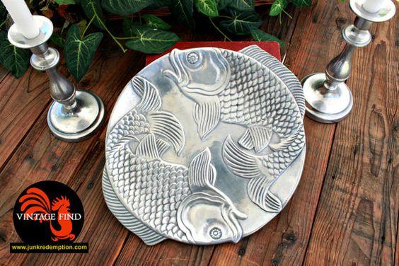Vintage Fish Platter Vandor Imports by JunkRedemption on Etsy