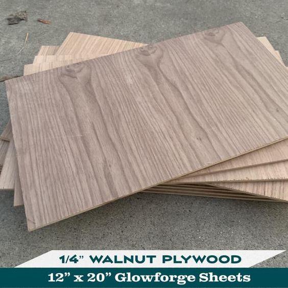 1 4 Walnut Plywood Both Sides 12 X 20 Glowforge Laser Etsy In 2020 Walnut Plywood Plywood Walnut