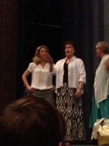 Kelli O'Hara and Judy Kaye talk to the participants of the 2012 National High School Musical Theater Awards.