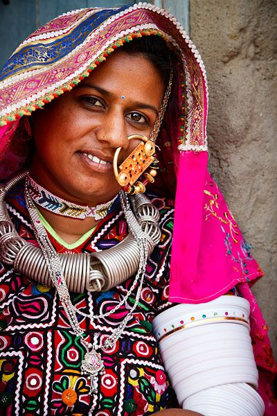 Portrait Of A Woman From The Marwada Meghwal Harijan Tribe
