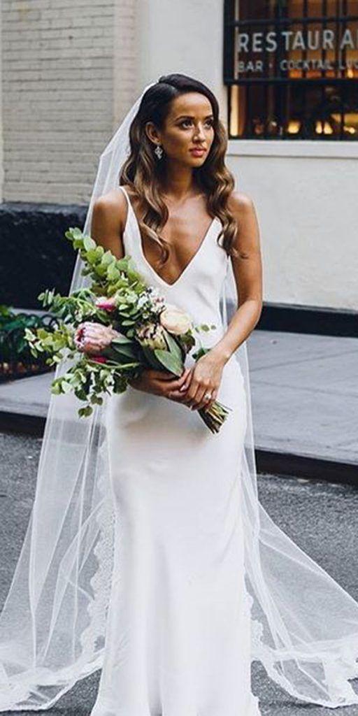 24 Excellent And Elegant Silk Wedding Dresses Modest Wedding