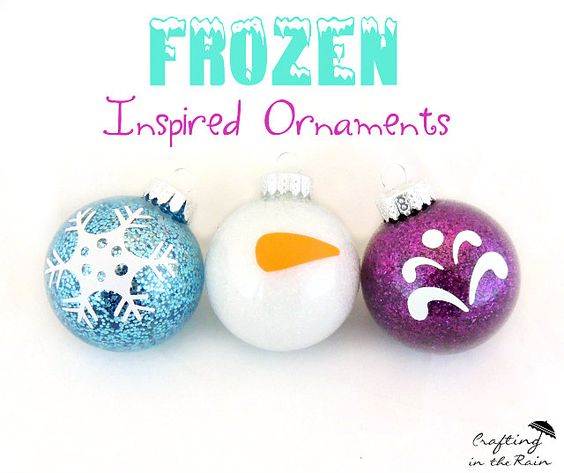 DIY Frozen  20+ DIY Disney ornaments | Lots of fun kids craft ideas for your Christmas decorating! Frozen ornaments, Ninja Turtle ornaments, Mickey Mouse ornaments and Disney princess ornament ideas! So fun!