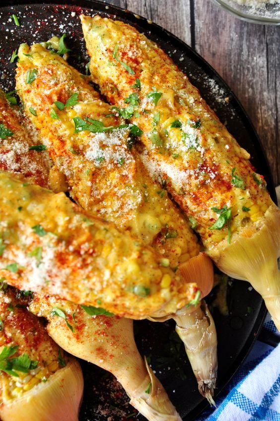 ... Roasted corn on the cob coated with homemade aioli, paprika, Parmesan