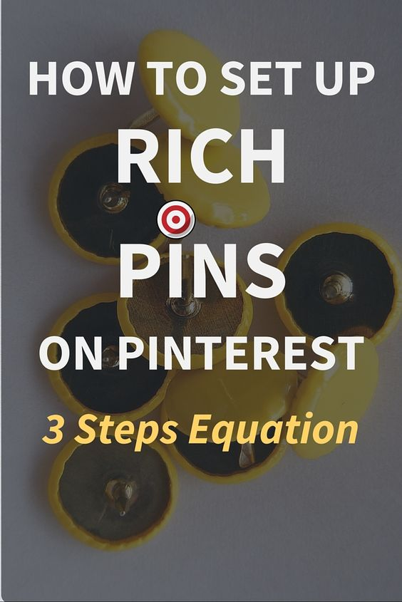 "How To Set Up ""Rich Pins"" on Pinterest? 3 Step Equation  Pinterest is a visual search engine and it is one of the most powerful ways to generate traffic and grow your blog or business but only if it is used strategically. And one of the strategic approaches you must do to stand out from the crowd is to set up Rich Pins on Pinterest.   Click Through To Read The Full Post>>>"