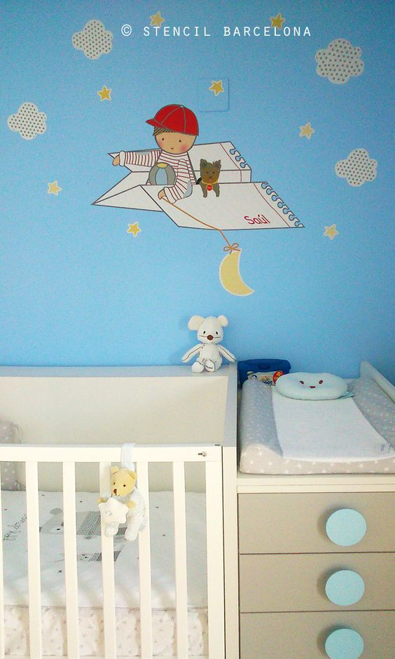 Habitaciones infantiles con vinilos de stencil barcelona - Habitaciones infantiles barcelona ...