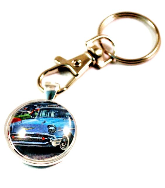 1957 Chevrolet Tri-Five Hot Rod Vintage Auto Key Chain Keyring for Men – BlueMorningExpressions