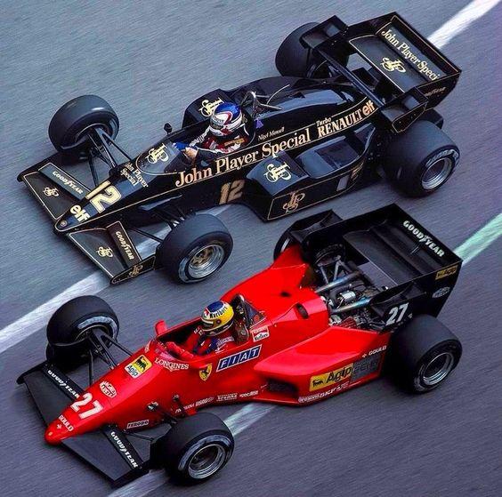 Alboreto + Mansell