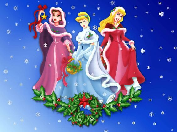 Christmas Belle, Cinderella, and Aurora