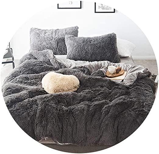 Pure Color Mink Velvet Bedding Sets 20 Colors Lambs Wool Fleece Bed Sheet Duvet Cover Bedclothes Fitted Fitted Bed Sheets Velvet Bedding Sets Fleece Bed Sheets