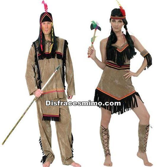 Tu mejor disfraz de pareja de indios hombre y mujer for Disfraces parejas adultos