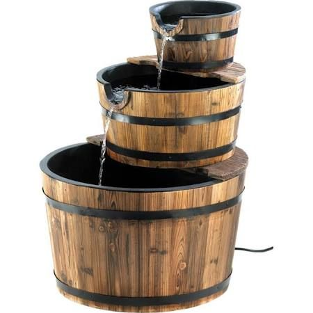 Whiskey Barrel Rain Barrel And Fountain Google Search