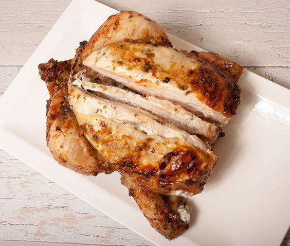 Kip uit de oven met crème fraîche en dragon - Keuken♥Liefde