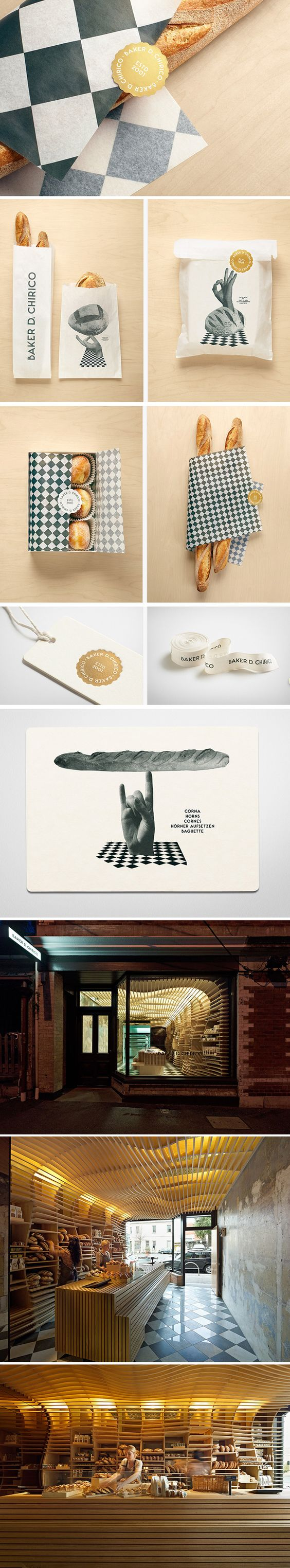 Boulangerie Baker D. Chirico. Another yummy identity packaging branding marketing story curated by Packaging Diva PD