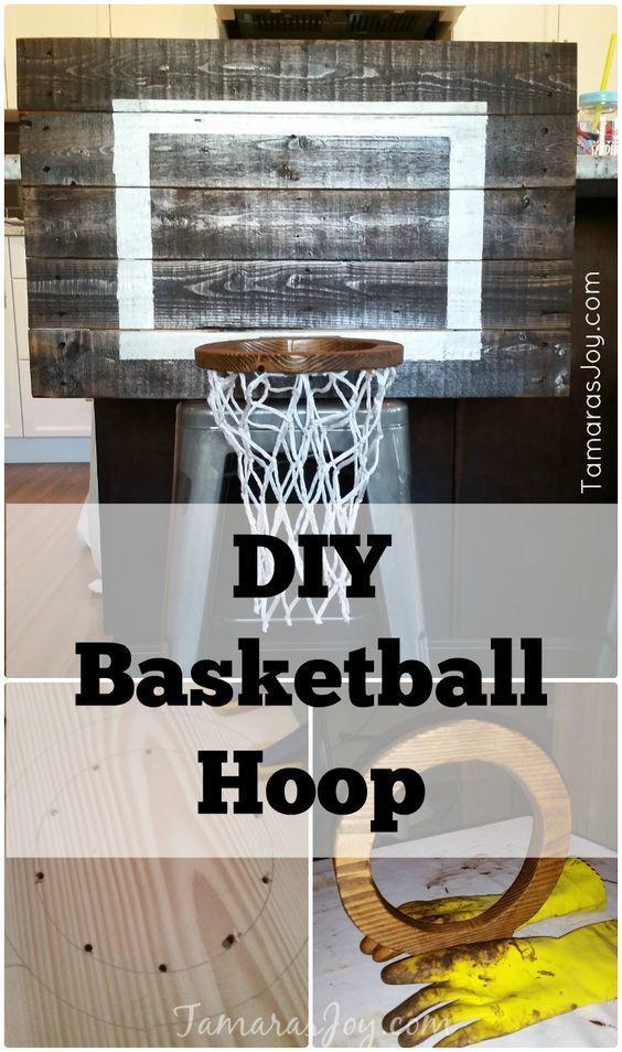 Diy Basketball Hoop For My Boys Bedroom Tamaras Joy Diy Basketball Hoop Boys Room Diy Diy Basketball