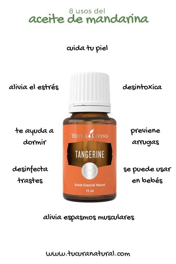 uso del aceite esencial de mandarina